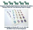Ivy Self Adhesive Sticky Label Stickers Labels 21mm - 36 Holographic A-Z Letters