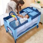 US Baby Crib Playpen Playard Pack Travel Infant Bassinet Bed Foldable 4 colors