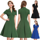 Retro Vintage 50s Party Dress Pinup Evening Prom Cocktail Housewife Swing Dress