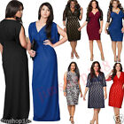 Plus Size M-3XL Womens Bodycon Bandage Evening Party Mini Dress Long Maxi Dress