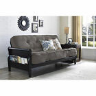 Convertible Futon Sofa Bed Couch Full Size Mattress Living Room Furniture NEW