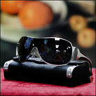NEW MENS WRAP AROUND SHIELD SUNGLASSES BLACK BROWN LENS SUMMER