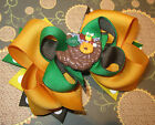 Thanksgiving Cornucopia Fall Hair Bow Boutique Hairbow Girls Toddler Gold Brown