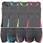 Womens Running Fitness Gym Top Shorts Outfit Lycra Feel Active Yoga Workout Set