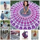 Mandala Round Flower Tapestry Wall Hanging Beach Throw Yoga Towel Shawl Decor