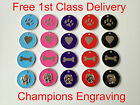 Pet ID Dog Tag  32mm Enamel Disc - FREE ENGRAVING/ FREE P&P -Posted within 24hrs