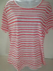 Old Navy womens tee relaxed Fit orange aztec print t shirt cotton