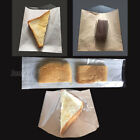 Film Front Bags White Paper Clear Window Sandwiches Cakes buffet Food Cellophane