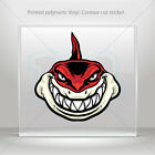 Decals Sticker Red Shark Attacks Helmet Atv Bike durable vinyl bike mtv XR487
