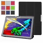 """THIN LEATHER CASE COVER, SCREEN PROTECTOR & STYLUS FOR LENOVO TAB 3 10"""" TB3-X70F"""