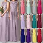 Lace/Long Formal Wedding Evening Ball Gown Party Prom Bridesmaid Dress Size 6-18