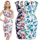 WOMENS VINTAGE 1950'S PINUP RETRO WIGGLE PARTY PENCIL DRESS 4 6 8 10 12 14 16 18