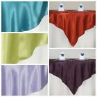 "10 Pack 72"" Square New SATIN Table Overlays Linens Wedding Wholesale Supplies"