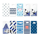 Stripe Anchor Print Hard Phone Back Case Cover For Apple iPhone 4 4S