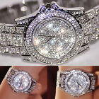 Fashion Diamond Women Watch Steel Luxury Ladies Crystal Rhinestone Quartz Watch