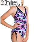 NEW 2 Chillies Girls Swimsuit V-Neck One Piece Sizes 6-14 RRP $54.95