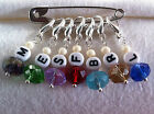 7x Stitch Markers-Chunky Knitting-Crochet-Chinese Crystal-Letters F B S E R L M