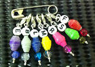 Set-7x Stitch Markers-Knitting-Crochet-Drawbench Duct Bead-Letters F B S E R L M