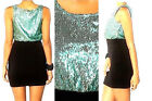 $110 MOTEL ROCKS SeXy BoDyCoN DRESS Sequin Top STRETcH SkiRT XS Urban Outfitters