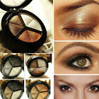 Smoky Cosmetic Set 3 Color Pro Matte Eyeshadow Makeup Eye Shadow Palette Glitter