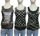 Womens Mesh Peplum Top V Neck Mesh insert & Beaded Top Party Towie lot size 8-14