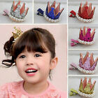 Likable Hairpins Princess Pearl Crown Multi-color Hair Clips for Baby Girls CMO