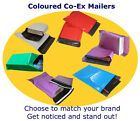 Multi Colour Mailing Postal Courier Bags, Co-Ex, Strong Exc Perm Seal, Opaque