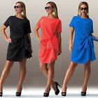 Women Ladies Summer Short Sleeve Dress Casual Party Slim Plus Size Dress New
