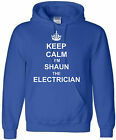 ELECTRICIAN PERSONALISED HOODIE KEEP CALM HOODY SPARKY HOODED SWEAT SIZES S-XXL