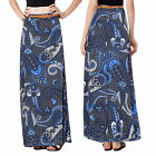 Stella Morgan Designer Womens Long Skirt Ladies Boho Patterned Maxi With Belt