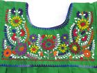 Puebla Mexican Hippie Peasant Vintage Embroidered Blouse Top Assorted Colors