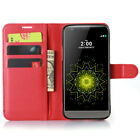 Slim Folio PU Leather Magnetic Stand Card Wallet Case Cover For LG G5 G4 G3 V10