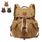 Travel Men/Women's Canvas Backpack Rucksack Sport Satchel School Hiking Bag