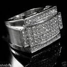 14k White Gold Plated Band Micropave CZ AAA Men's Hip Hop Iced Out Pinky Ring