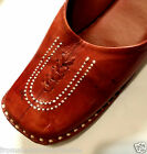 Hand Tooled Leather Brown Mules Shoes Size 5, 6, 7, 8 Liquidation Sale