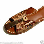 Hand Tooled Leather Brown Floral Mules Shoes Jutti Size 6, 7 Liquidation Sale