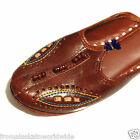 Hand Tooled Leather Brown Mules Shoes Size 4, 6, 8 Liquidation Sale