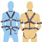 Men's Faux Leather Chest Full Body Harness Fetish Gay Chastity Bondage Clubwear