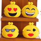 Women Girls Wallet Emoji Smiley Face Silicone Jelly Coin Bag Purse Kids Gift EW