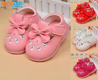 New Toddler Girls Walking Shoes Baby Casual Shoes Soft Sole Lights Size 3.5-5.5