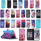 Printed Pattern Flip Stand Case Wallet Card Holder Cover For Iphone 6 & 6s Plus