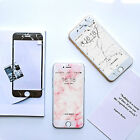 Popular Print Granite Marble Couple Pink Tempered Glass for iPhone 6 6S 7 Plus