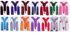 Boys Suspenders AS LOW AS 319 FAST 24 hr shipping USA Seller 18+ colors