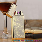 USB Rechargeable Electric LIGHTER Double ARC PULSE Flameless Plasma Torch