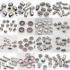 50/100pcs Titbetan Silver Plated Loose Spacer Beads Charms Jewelry Making DIY