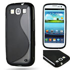 TPU Gel Rubber Silicone Case Skin Cover Black For Samsung Galaxy S5 S3 i9300