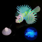 New Silicone Simulation Lionfish Luminous Aquarium Supplies Fish Tank Decoration