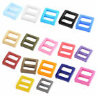 Webbing Bag Plastic Replacement Tri Glide Buckle Strap Keeper 12 Pcs