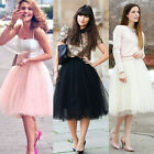 Women Girls Princess Ballet Tulle Tutu Skirt Wedding Prom Party Short Mini Dress