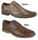 NEW MEN'S CASUAL COMFORTABLE FASHIONABLE OCCASION FORMAL BROWN LACE UP SHOE
